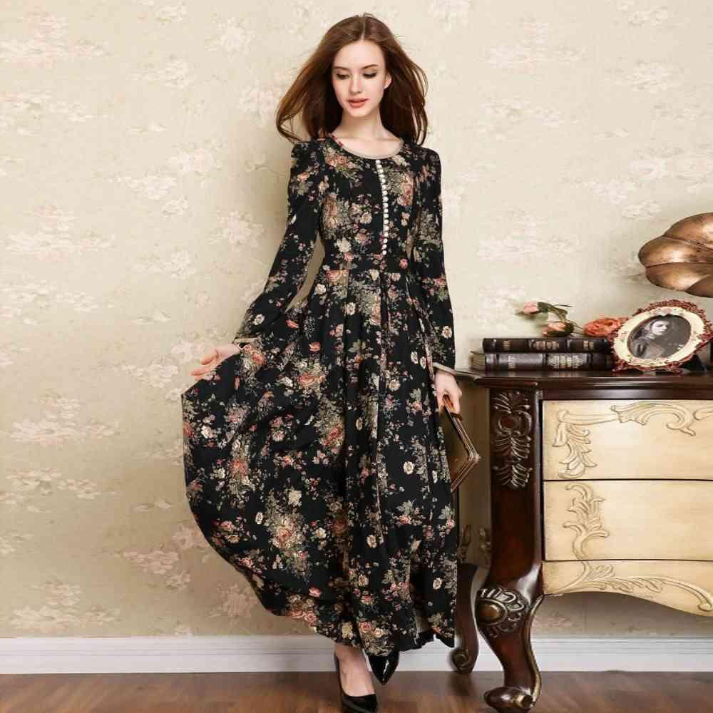 rochie cu flori de toamna