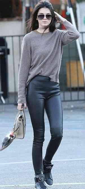 look informal pantaloni piele