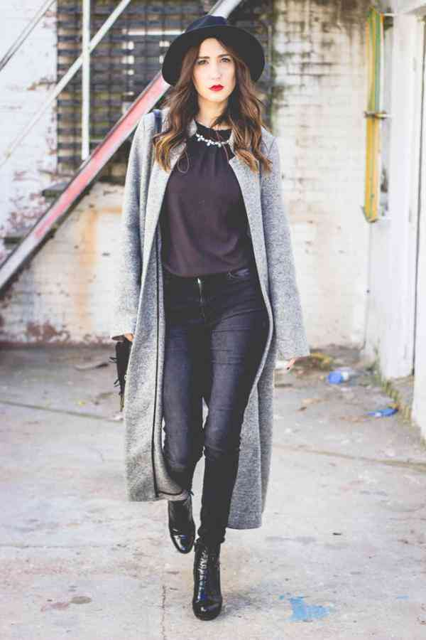 tinuta urbana cu haina lunga