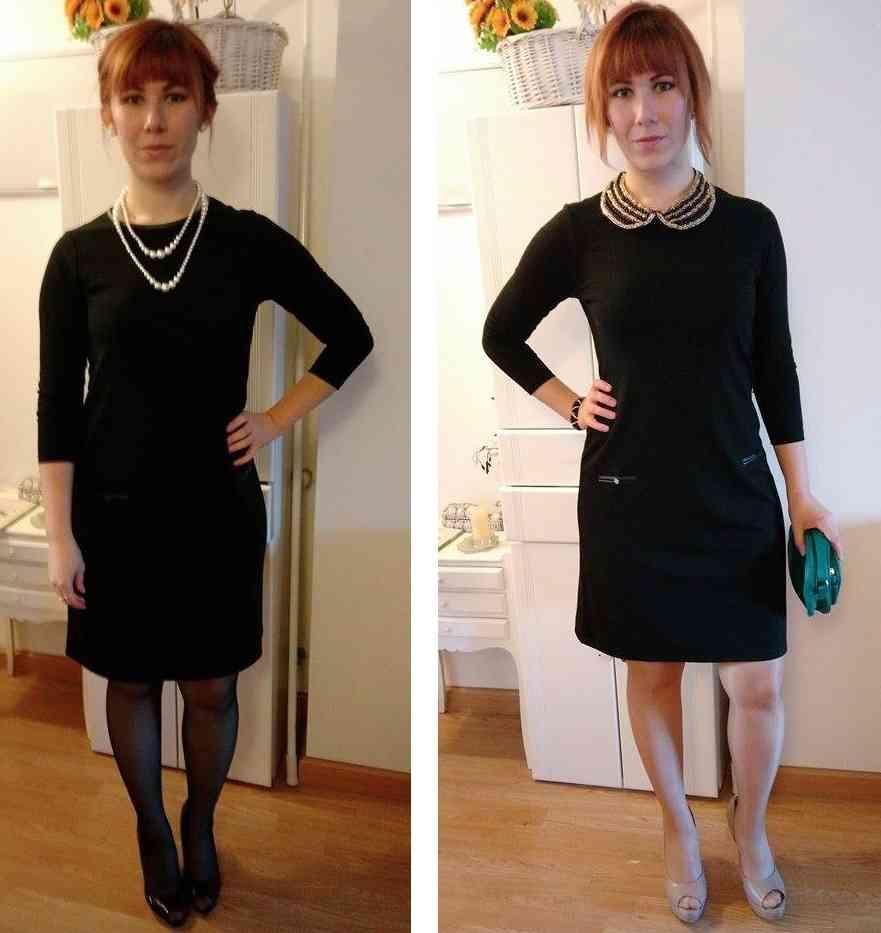 rochie neagra eleganta