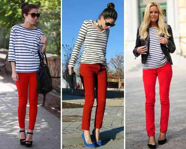 camasa dungi pantaloni rosii