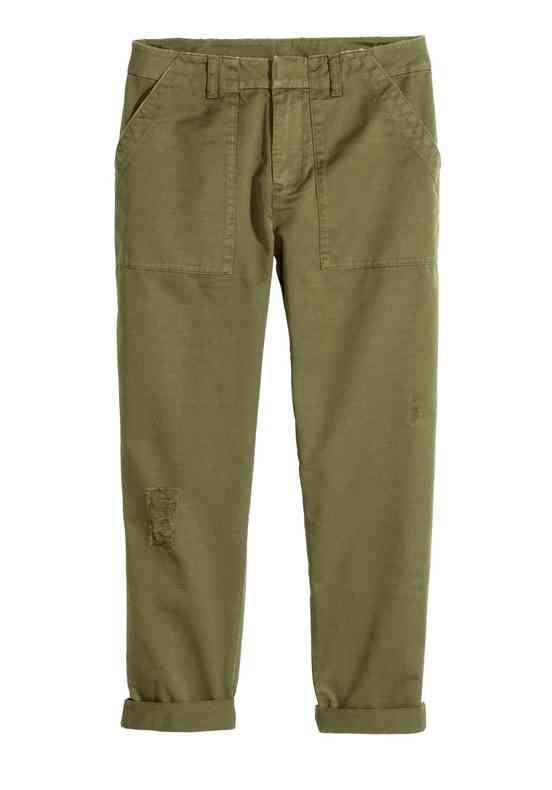 pantaloni militaresti h&m