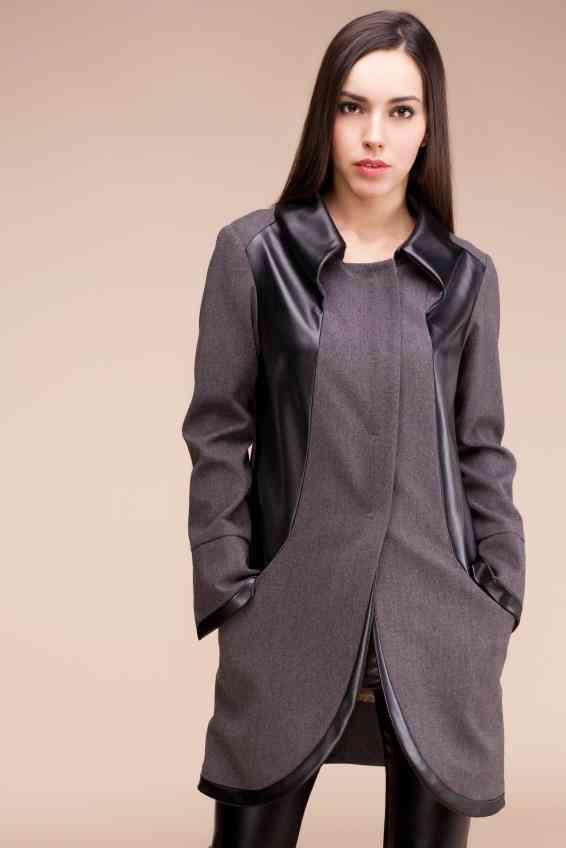 combinare haina gri