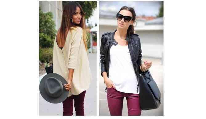 pantaloni visinii+articole albe