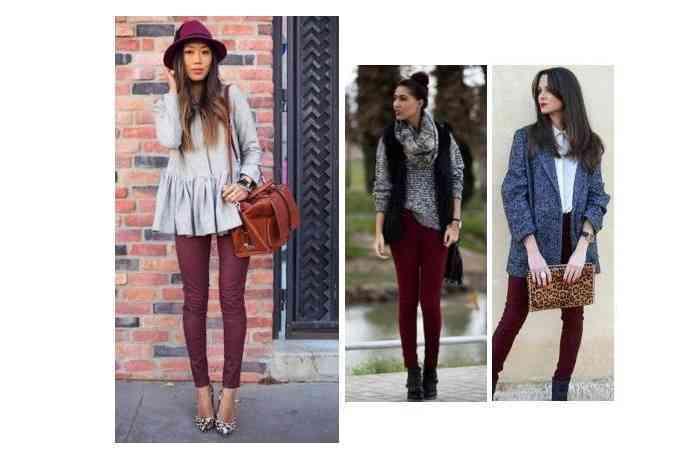pantaloni visinii+articole gri