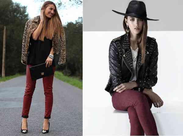 pantaloni visinii+articole negre