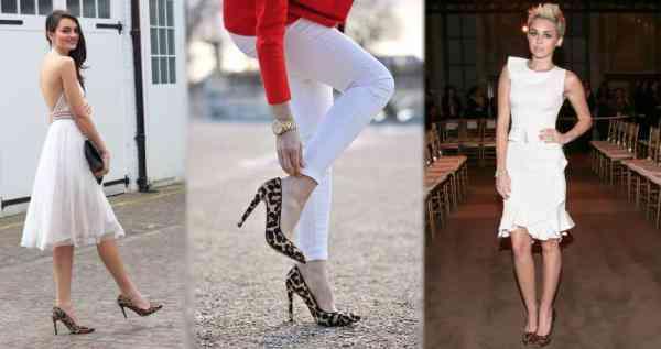 pantofi leopard+articole albe