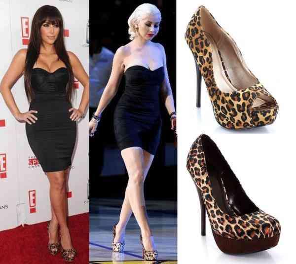 pantofi leopard+articole negre
