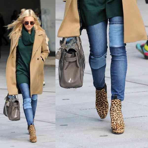 pantofi leopard+blugi