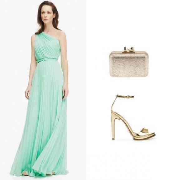 rochie bleu verde+auriu