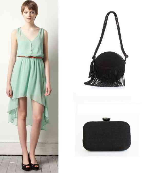 rochie bleu verde+negru