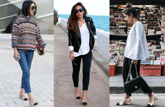 pantofi bicolori la moda